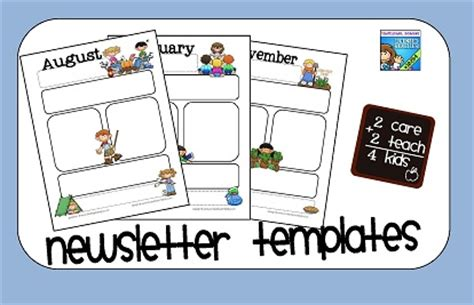 free printable preschool newsletter templates 2care2teach4kids newsletter templates