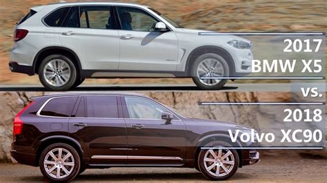 Difference Between 2019 And 2020 Volvo Xc90 by 2017 Bmw X5 Vs 2018 Volvo Xc90 Technical Comparison