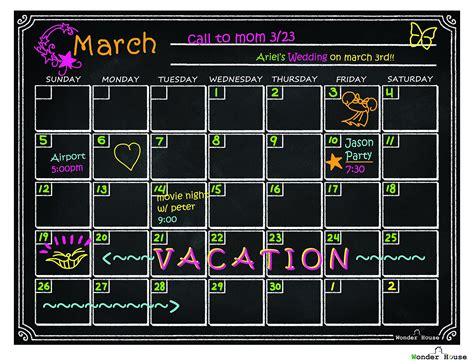 Magnetic Erase Calendar 40 Refrigerator Magnetic Erase Calendar