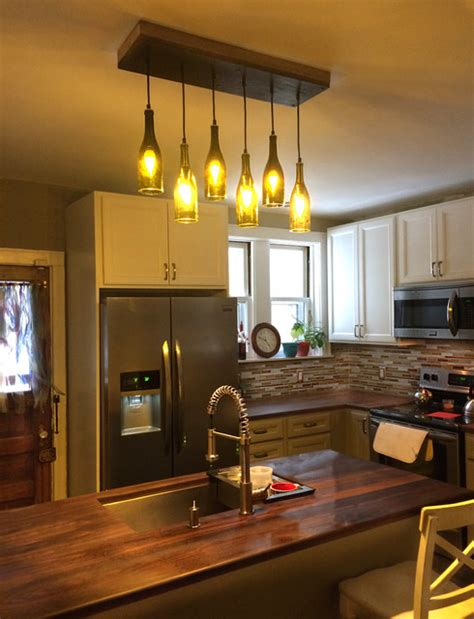 residential lighting rustic kitchen island lighting