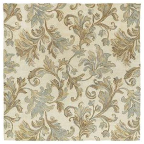 8x8 Square Area Rugs Kaleen Calais Floral Waterfall Ivory 8 Ft X 8 Ft Square Area Rug 7507 01 8x8 The Home Depot