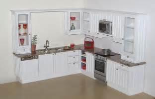 tongue and groove kitchen cabinet doors custom kitchen in 1 12 scale white quot tongue and groove quot effect doors beige granite top with