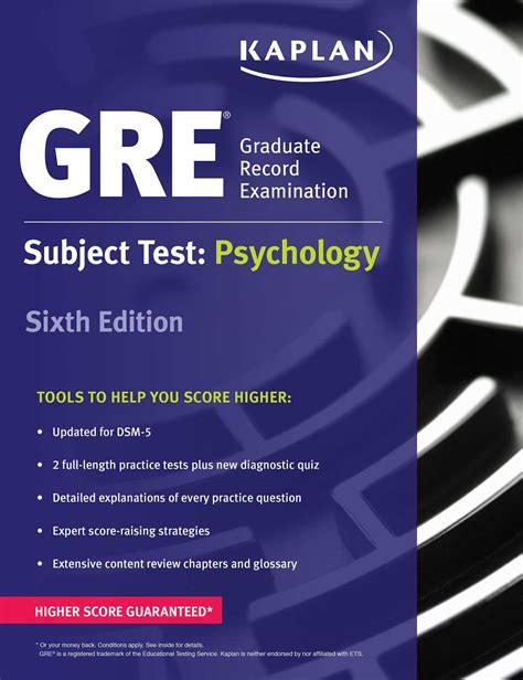 gre test gre subject test psychology book by kaplan kaplan test