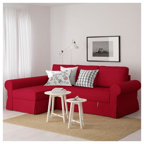 ikea sofa bed with chaise backabro sofa bed with chaise longue nordvalla red ikea