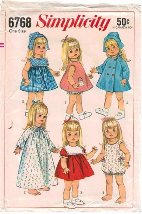 pattern baby doll dress s from sarah s closet on poshmark vintage baby dolls vintage simplicity pattern 6768 18