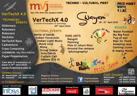 Themes For Engineering College Fests | vertechx 4 0 swayam 2013 technical cultural arts and