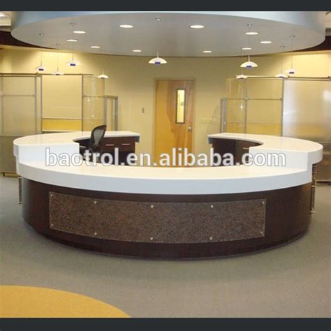 reception desk materials acrylic material small office reception desk with led