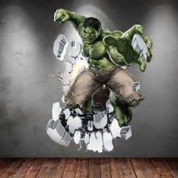 Hulk Wall Stickers hulk chambres de gar 231 on and hulk on pinterest