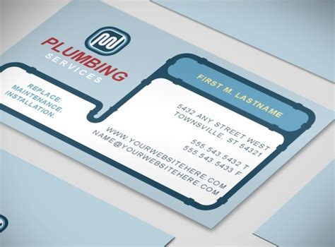 plumber business card template document moved