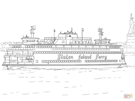 speedboot kleurplaat coloriage ferry de staten island coloriages 224 imprimer