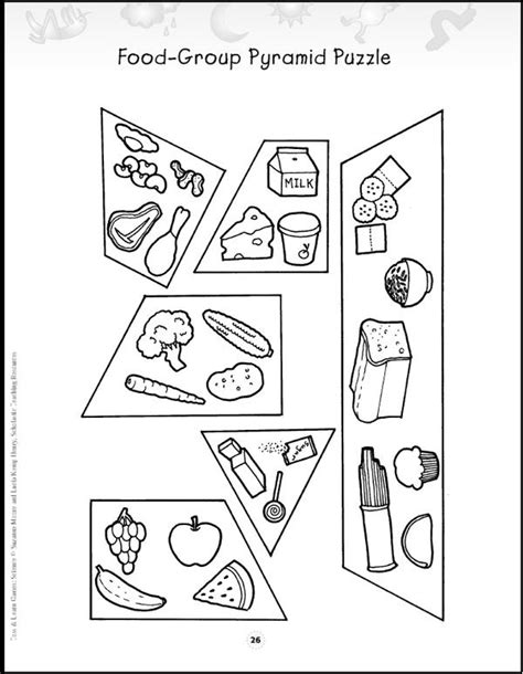 food pyramid coloring page kindergarten we used his food pyramid puzzle just to better understand