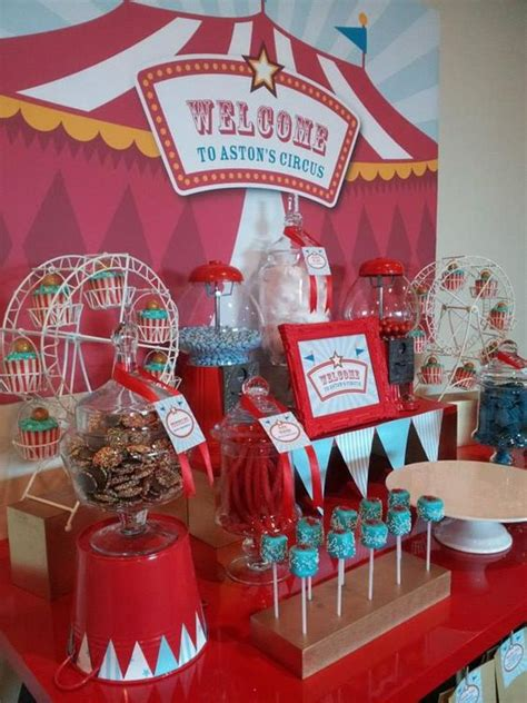 carnival themed table decorations circus themed christening carnival circus parade