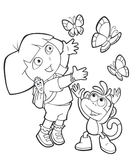 dora butterfly coloring pages dora coloring lots of dora coloring pages and printables