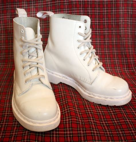 all white boots for all white monochromatic dr martens boots