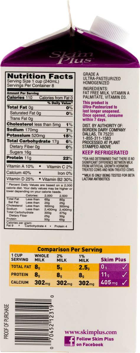 Skim Plus Chocolate Milk Nutrition Facts - Nutrition Ftempo Leo's Coney Island Menu