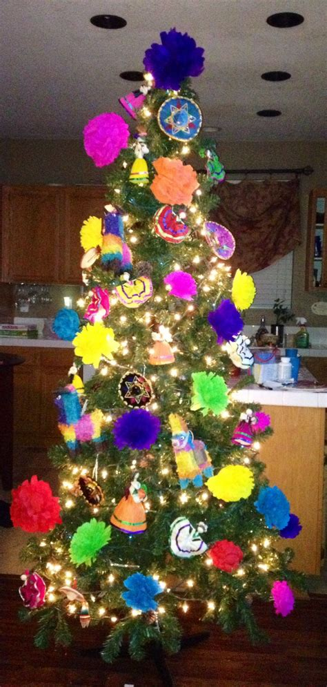 mexican christmas tree fiesta latina style culture decor
