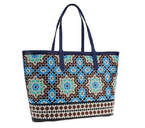 All For Fabric Totes And Fabric Totes For All by Oryany Large Printed Coated Fabric Tote Qvc