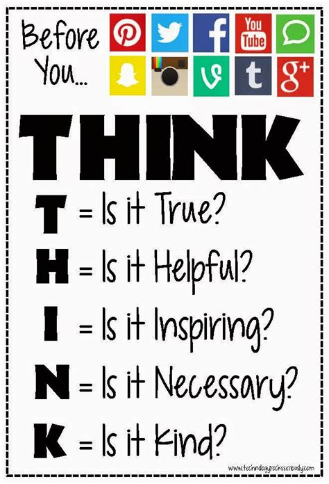 printable think poster technology rocks seriously before you post think