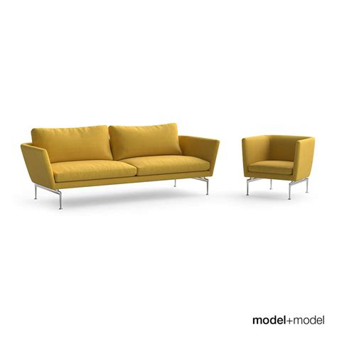 suita sofa vitra suita sofa armchair 3d model