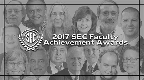 Lsus Mba Graduate With Honors by 2017 Sec Faculty Achievement Award Recipients Announced Secu