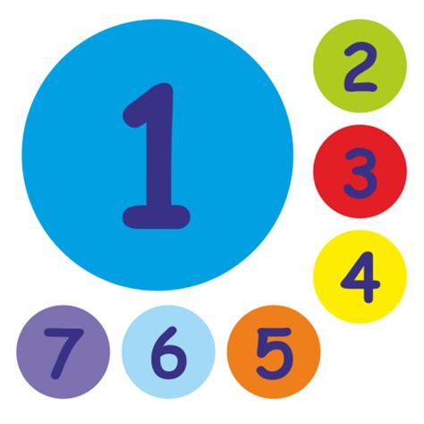 Aufkleber Rund 25mm by 25mm Numbers 1 7 Stickers School Stickers