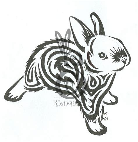 rabbit tribal tattoo designs another bunny by rienquish on deviantart