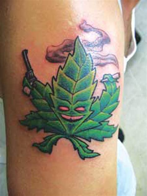 marijuana leaf tattoo tattoos