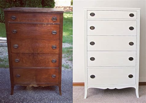 Tallboy Dresser by White Antique Tallboy Dresser With Original