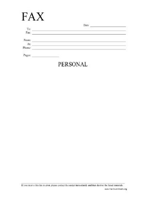 full size printable fax cover sheet this printable fax cover sheet is labeled personal and