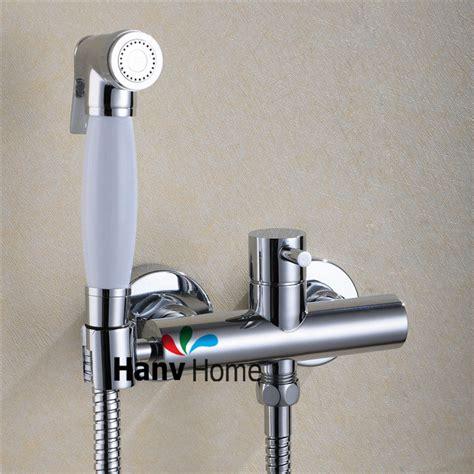 Handheld Bidet Spray aliexpress buy toilet bathroom held bidet spray shattaf brass cold water