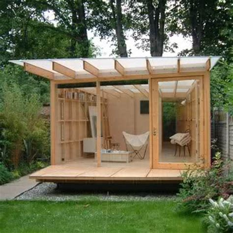using a garden shed as a home office cool shed design