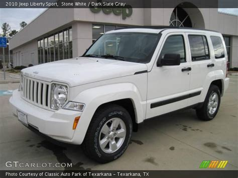 jeep liberty 2010 interior white 2010 jeep liberty sport slate gray