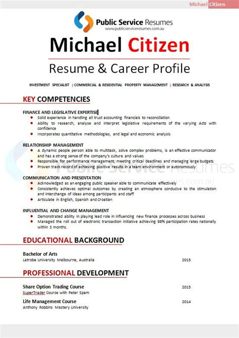 Local Government Executive Sle Resume by Service Resume 095 187 Professional Resume Design 187 Psr