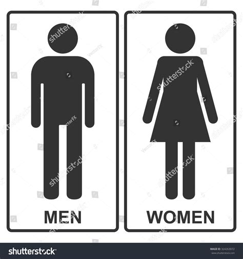 men and women bathroom symbols man woman vector icons toilet signs stock vector 324263072