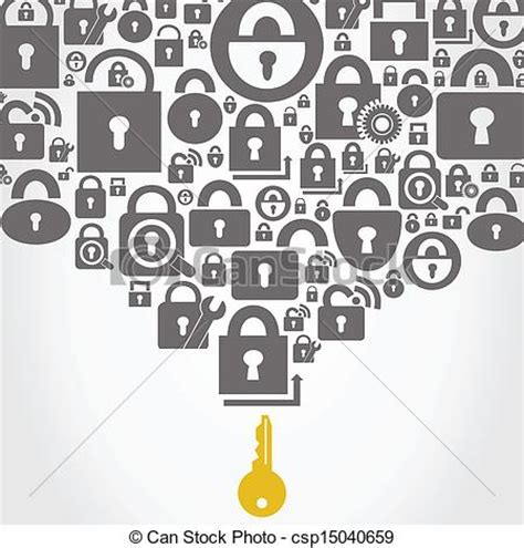 pattern lock logo key to all locks a vector illustration clipart vector