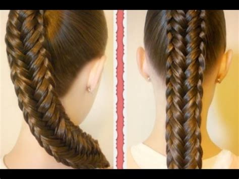hair braiding styles step by step cute easy fishtail braid hairstyle step by step tutorial