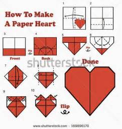 How To Fold Paper Hearts Step By Step - how to make a out of paper step by step easy with