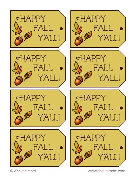 printable labels for your fall food gifts by lia griffith acorn kisses with fall gift tag printable about a