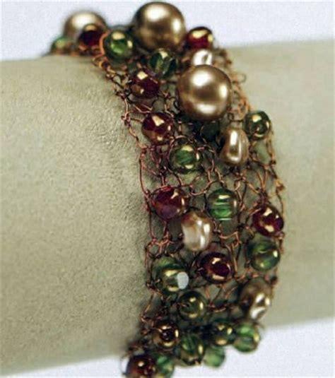 knitted wire bracelet knitted wire bead bracelet knitting beaded bracelets
