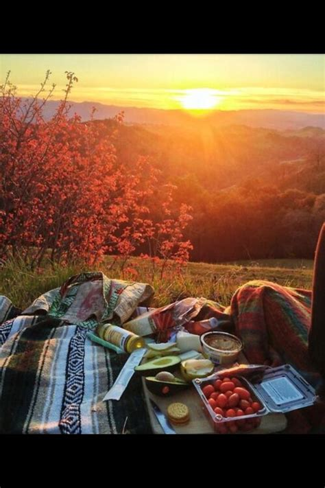 Picnic Date by Hilltop Sunset Picnic Date Sweetness