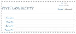 Petty Cash Receipt Template Receipt Template Blank Receipts For Word