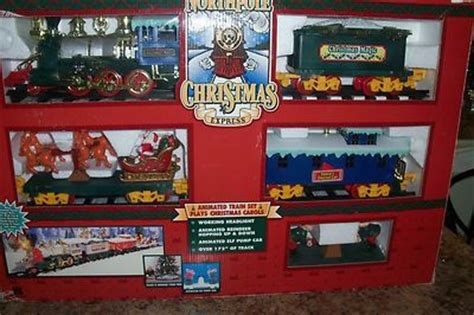 north pole christmas express battery operated train set