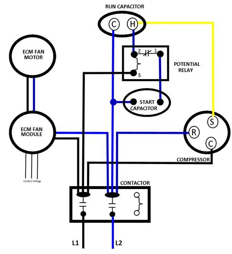 electric potential relay wiring diagram wiring diagram