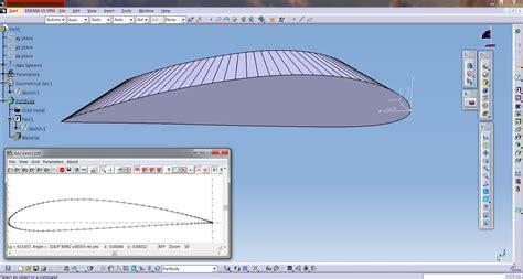 catia aircraft design the best aircraft 2017 catia aerospace naca airfoil or aircraft wing create