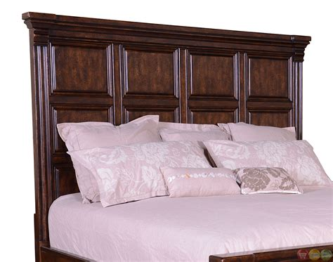 california king futon whiskey oak western rustic style panel california king bed