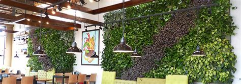 indoor living wall by livewall at brome burger