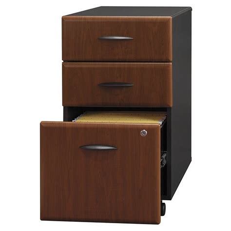 bush business series a 3 drawer mobile file cabinet in