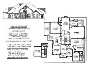 3 Bedrooms 2 Stories Over 3301 Square Feet House Plans 3 Bedroom 2 Bath Car Garage