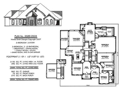 house plans with game room 3 bedrooms 2 stories over 3301 square feet