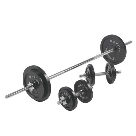 Barbell Dan Dumbell Marcy 50kg Cast Iron Barbell And Dumbbell Set Sweatband